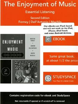 The Enjoyment of Music (Essential Listening Edition, Second Edition) 9780393904253