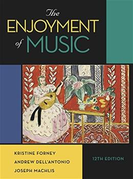 Enjoyment of Music, by Forney, 12th Edition 9780393906035