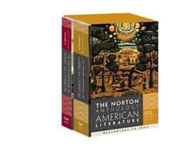 Norton Anthology of American Literature, by Baym, 8th Edition, 2 VOLUME SET 8 PKG 9780393913095