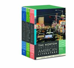 Norton Anthology of American Literature, by Baym, 8th Edition, 3 VOLUME SET 9780393913422