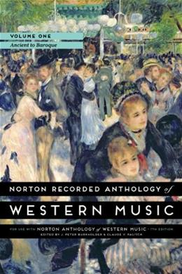 Norton Recorded Anthology of Western Music, by Burkholder, 7th Edition, Volume 1, DVD-ROM ONLY 7 DVD-ROM 9780393936872