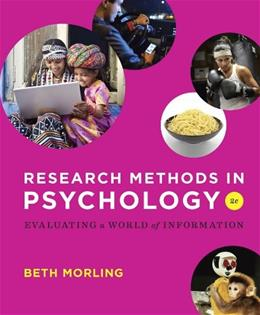 Research Methods in Psychology: Evaluating a World of Information (Second Edition) 2 9780393936933