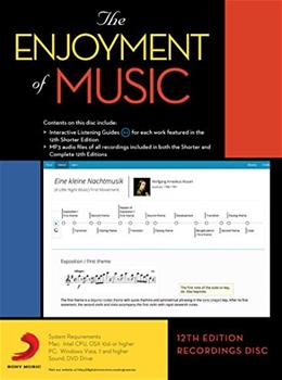 Norton Recordings to accompany The Enjoyment of Music, by Forney,12th Edition, DVD-ROM ONLY 9780393937886