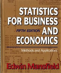 Statistics for Business and Economics: Methods and Applications (Fifth Edition) 5 9780393964608
