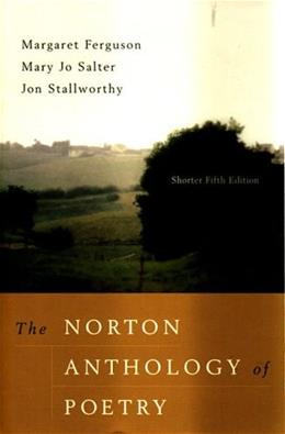 The Norton Anthology of Poetry, Shorter Fifth Edition 5 9780393979213