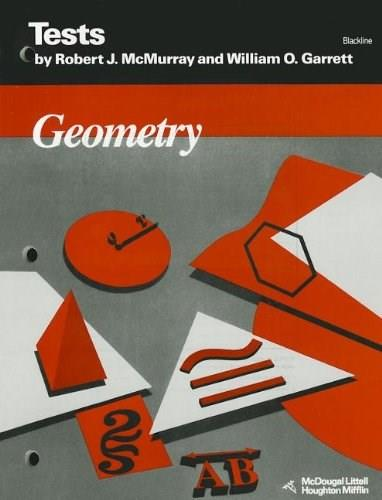 Geometry: Tests - Blackline, by McMurray 9780395573327
