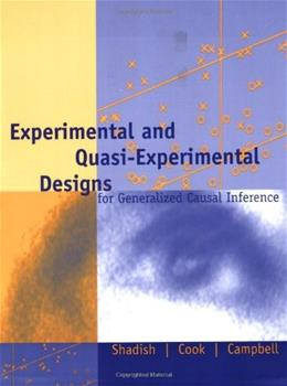 Experimental and Quasi-Experimental Designs for Generalized Causal Inference 2 9780395615560