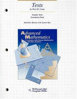 Advanced Mathematics Tests: Precalculus with Discrete Mathematics and Data Analysis, by Camp 9780395666241