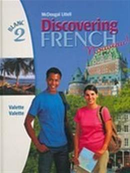 Discovering French Nouveau 2, by Valette, Grades 9-12 9780395874899