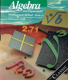 Algebra and Trigonometry: Structure and Method, Book 2 student 9780395977255