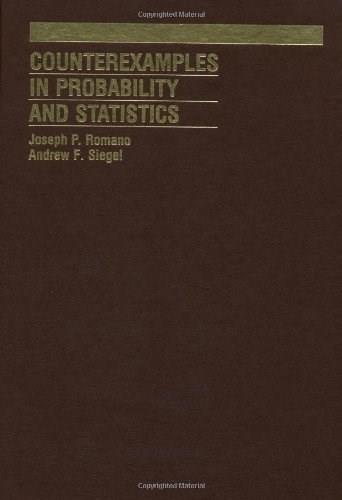 Counterexamples in Probability and Statistics, by Romano 9780412989018
