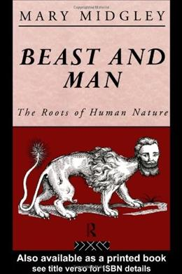 Beast and Man, by Midgley 9780415289870