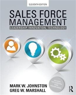 Sales Force Management: Leadership, Innovation, Technology - 11th edition 9780415534628