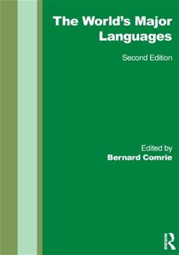 Worlds Major Languages, by Comrie, 2nd Edition 9780415609029