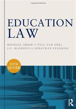 Education Law, by Imber, 5th Edition 9780415622813