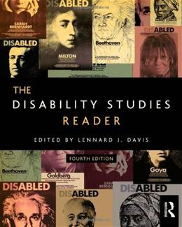 Disability Studies Reader, by Davis, 4th Edition 9780415630511
