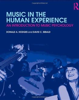 Music in the Human Experience: An Introduction to Music Psychology, by Hodges BK w/CD 9780415881869