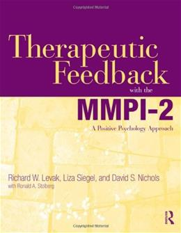 Therapeutic Feedback with the MMPI-2: A Positive Psychology Approach, by Lewark 9780415884914