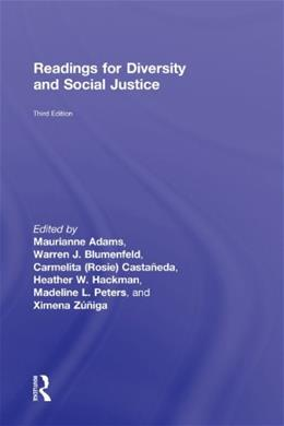 Readings for Diversity and Social Justice, by Adams, 3rd Edition 9780415892933