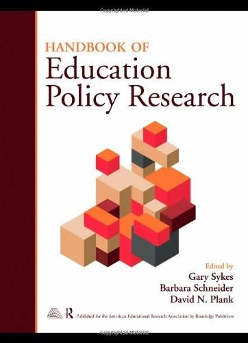 Handbook of Education Policy Research, by Plank 9780415989923