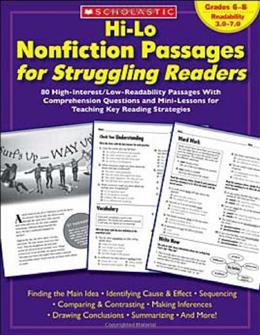 Hi-Lo Nonfiction Passages for Struggling Readers, by Scholastic Inc 9780439694988