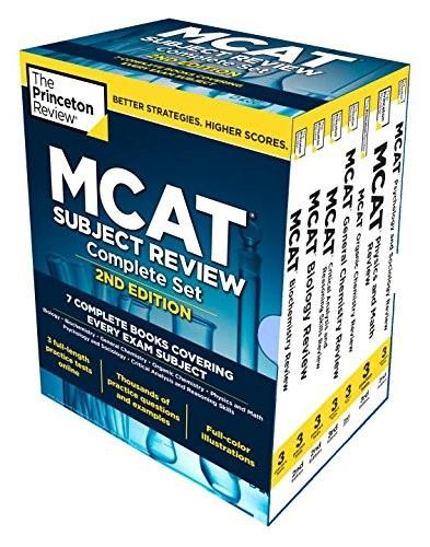 Princeton Review MCAT Subject Review Complete Boxed Set, 2nd Edition, 7 Book Set 2 PKG 9780451487155