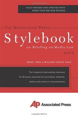 Associated Press Stylebook, by Goldstein, 43rd Edition 9780465012626