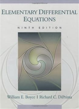 Elementary Differential Equations 9 PKG 9780470039403