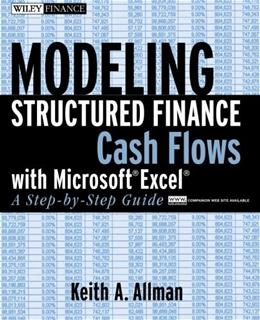 Modeling Structured Finance Cash Flows with Microsoft Excel: A Step by Step Guide, by Allman BK w/CD 9780470042908