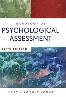 Handbook of Psychological Assessment 5 9780470083581