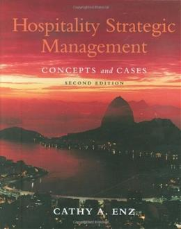 Hospitality Strategic Management: Concepts and Cases 2 9780470083598