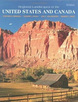 Regional Landscapes of the United States and Canada, by Birdsall, 7th Edition 9780470098264