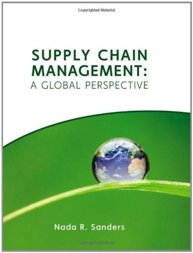 Supply Chain Management: A Global Perspective 1 9780470141175