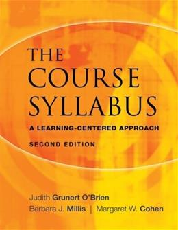 Course Syllabus: A Learning Centered Approach, by Grunert, 2nd Edition 9780470197615