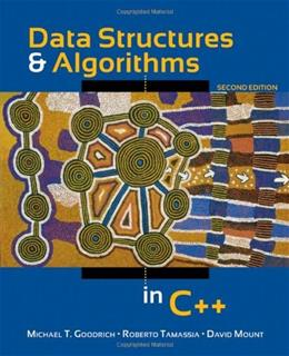 Data Structures and Algorithms in C++, by Goodrich, 2nd Edition 9780470383278