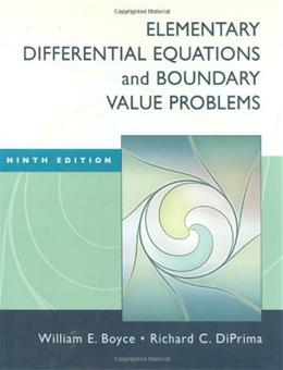 Elementary Differential Equations and Boundary Value Problems, by Boyce, 9th Edition 9 PKG 9780470383346