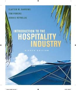 Introduction to the Hospitality Industry 8 9780470399163