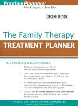 Family Therapy Treatment Planner, by Dattilio, 2nd Edition 9780470441930