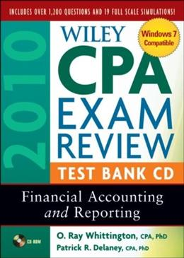 Wiley Cpa Examination Review Practice Software 15.0: Financial Accounting and Reporting, by Delaney, CD-ROM ONLY 9780470453469