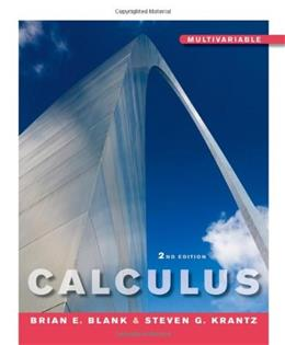 Calculus Multivariable, by Blank, 2nd Edition 9780470453599