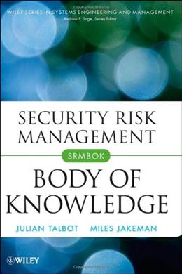 Security Risk Management Body of Knowledge, by Talbot 9780470454626
