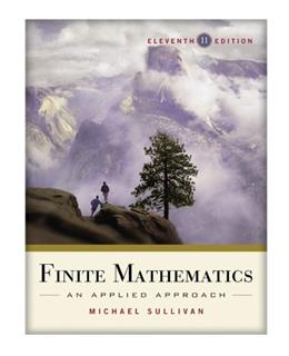Finite Mathematics: An Applied Approach 11 9780470458273