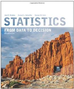 Statistics: From Data to Decision, by Watkins, 2nd Edition 9780470458518