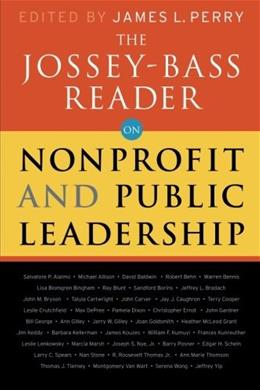 Jossey-Bass Reader on Nonprofit and Public Leadership, by Perry 9780470479490