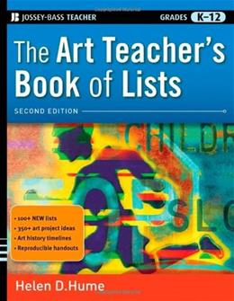 Art Teachers Book of Lists, by Hume,  2nd Edition 9780470482087