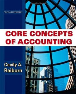 Core Concepts of Accounting, by Raiborn, 2nd Edition 9780470499474