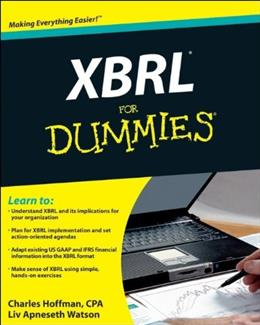 XBRL For Dummies, by Hoffman 9780470499795