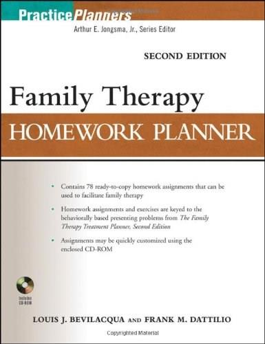 Brief Family Therapy Homework Planner, by Bevilacqua, 2nd Edition 2 w/CD 9780470504390