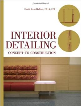 Interior Detailing: Concept to Construction, by Ballast 9780470504970