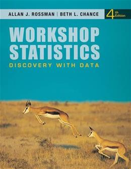 Workshop Statistics: Discovery with Data 4 w/CD 9780470542088